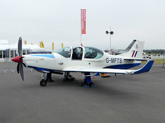 G-MFTS Grob G120TP Prefect cn 110099 Affinity Flying Services RAF Fairford 15Jul17 (kerrydavidtaylor) Tags: egva ffd gloucestershire