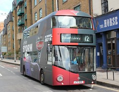 Go Ahead London Central . LT442 LTZ1442 . Westminster Bridge Road , Lambeth North , London . Saturday 22nd-July-2017. (AndrewHA's) Tags: bus lamberthnorth goahead london central wrightbus newbusforlondon nbfl lt 442 ltx 1442 overall advert pixar film cars 3