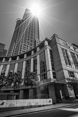 DSC01955 (Damir Govorcin Photography) Tags: sydney cbd buildings sun burst architecture blackwhite monochrome wide angle zeiss 1635mm sony a7ii