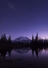 Tipsoo Lake at Night (Mt Rainier NP, WA) (Sveta Imnadze) Tags: nature landscape nightsky stars tipsoolake mtrainiernp mtrainier reflection chinookpass