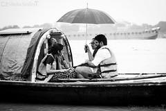 A monsoon boat ride (simba_smiles) Tags: rains monsoon river boat umbrella hooghly kolkata rainy simbasmilesphotography fuji xt2 60mm monochrome bw blackandwhite blackwhite