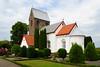 Sankt Knuds kirke / church, Bornholm, Denmark (Bochum1805) Tags: church kirke kyrka sanktknudskirke puts kor absid kyrktorn knudsker kyrkogård churchyard gravvård gravsten