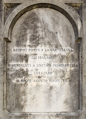 Inscription on the statue of Giuseppe Piazzi (Armand K) Tags: ceres1 giuseppepiazzi italy piazzi ponteinvaltellina valtellina astronomer inscription mathematician memorial monument statue