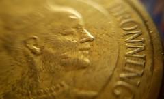 Queen of Denmark (blondinrikard) Tags: macromondays queen queenofdenmark coin macro 10kroner 10kronercoin metal