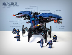 Deathseeker V-100 (niteangel) Tags: mech military machine robot weapon lego