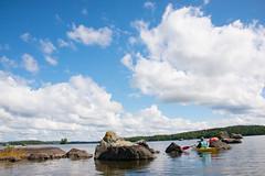 Paddling on Lake Kukkia (talaakso) Tags: finland järvi kukkia pirkanmaa terolaakso clouds kivet kivikko lake luopioinen meloja moln paddling pilvet pälkäne rocks sten talaakso creativecommons attribution pouta lakelandscape järvimaisema