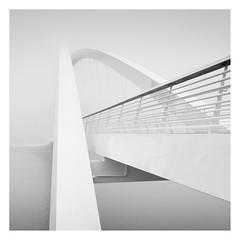 Isoisänsilta (Vesa Pihanurmi) Tags: bridge architecture lines geometry abstraction fog helsinki isoisänsilta kalasatama blackandwhite monochrome