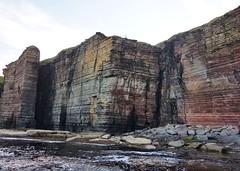 Cliffs south of Buchollie Castle. (Shandchem) Tags: caithness coast sea kayak trip devonian cliffs buchollie castle