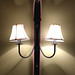 Antique ski light fitting