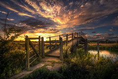 Look Behind You (unciepaul) Tags: bridge wadenhoe sunset sunday july 2017 river nene evening blueskyclouds walking look behind you grass path beautiful colours contrast calm d800 detail gentle tripod striking summer sunshine soft tranquil