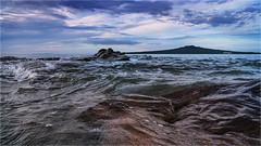 Gentle Waves Narrow Neck Beach (elpedro1960) Tags: beach seascape rocks water ocean sea gentle calm waves evening blue narrow neck devonport auckland new zealand