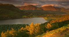 Loweswater from Burnbank Fell (►►M J Turner Photography ◄◄) Tags: loweswater burnbankfell lakedistrict cumbria england unitedkingdom lake hill fell mountain nationaltrust worldheritagesite unesco unescoworldheritagesite grasmoor whiteside crummockwater lowfell sunset landscape whitelesspike
