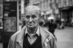 An Emptiness (Leanne Boulton) Tags: people monochrome portrait urban street candid portraiture streetphotography candidstreetphotography candidportrait streetportrait eyecontact candideyecontact streetlife old elderly aged man male face facial expression eyes look emotion feeling mood atmosphere soul sadness emptiness story tone texture detail depthoffield bokeh closeup naturallight outdoor light shade shadow city scene human life living humanity society culture canon canon5d 5dmkiii 70mm character ef2470mmf28liiusm black white blackwhite bw mono blackandwhite glasgow scotland uk