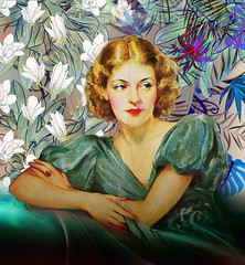 1933 (jaci XIII) Tags: pessoa mulher pintura painting woman person