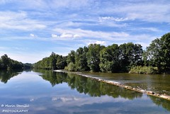 Pravutina, Croatia - River Kupa reflections (Marin Stanišić Photography) Tags: river kupa croatia pravutina colors green bikeride clouds reflections