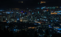 oakland city lights by the bay (pbo31) Tags: oakland eastbay alamedacounty night dark july summer 2017 boury pbo31 lightstream motion traffic roadway black over view downtown city urban