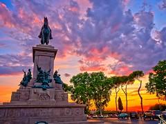 Roman Sunset (al.scuderi71) Tags: roma rome sunset tramonto tramonti panasonic gh4 on1photoraw2017 on1pics sky cielo clouds nuvole rosso blue red