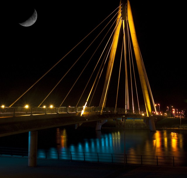 The night view of Southport