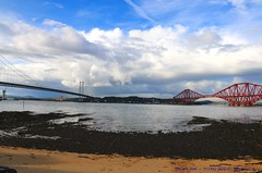 Down by the Sea...... (law_keven) Tags: scotland landscapes fourthroadbridge bridges fourthrailbridge clouds cloudage queensferry northqueensferry water sea northsea photography