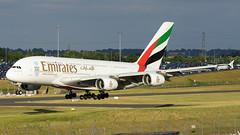 A6-EOX (hartlandmartin) Tags: a6eox emirates airbus a380800 bhx egbb birmingham elmdon landing aircraft airline airport aeroplane jet flight aviation plane transport nikon d7200 70300g