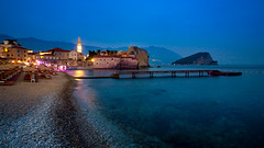 Budva, Montenegro (Ognjen Golubovic) Tags: stari grad budva montenegro richard richards head beach balkans crna gora old town night sea long exposure