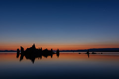 South Tufa Silhouettes At Dusk, Mono Lake (Basak Prince Photography) Tags: 395 black blue calm colors dawn dusk easternsierra monolake red serenity silhouette southtufas summer sunrise