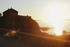 Beauty is simply reality seen with the eyes of love. (Therese Trinko) Tags: ermidadalanzada sunset hermitage chapel ocean sea atlantic contrast exposure sunburst beauty truth light spain galicia ogrove europe travel