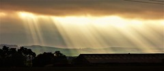 Morning rays (Tobymeg) Tags: rays sun cloud panasonic dmcfz72 scotland daybreak hill light today dark holywood