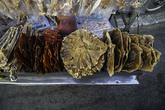 Dried meat snacks (Keith Kelly) Tags: asia cambodia driedmeat fish kh kampuchea phnompenh seasia snacks southeastasia stingray aroundtown beefjerky capital city dried eat food meat preserved squid streetfood vendor