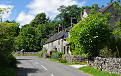 The village of Bradbourne (Blue sky and countryside) Tags: limestone cottages terraced attractive bradbourne derbyshire peak district national park england pentax sunshine peaceful redletterbox
