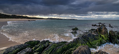 No surf today (OzzRod) Tags: pentax k1 irix15mmf24blackstone landscape seascape coast clouds sea shore rocks cuttagee dailyinjuly2017
