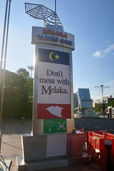 """Don't mess with Melaka. They are warning you in every corner 😜😱😂 Malaysia  July 2017 #itravelanddance • <a style=""""font-size:0.8em;"""" href=""""http://www.flickr.com/photos/147943715@N05/35201736274/"""" target=""""_blank"""">View on Flickr</a>"""