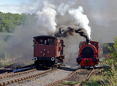 smoke and shunting (midcheshireman) Tags: steam train locomotive staffordshire foxfield foxfieldcolliery industrial
