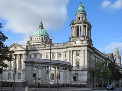 City Hall, Belfast, Northern Ireland (swampzoid) Tags: belfast cityhall northernireland ireland capital capitol dome ornate gleaming grand opulent spectacular historic old wow history
