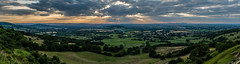 Crickley Hill Panorama (Russell Discombe) Tags: crickley hill panorama pano gloucestershire nikon sunset light landscape nikond610 d610 sigma sigma24105 sigmaart green sun view outdoor