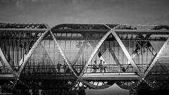Metal (Eugercios) Tags: dominique perrault arganzuela madrid puente ponte bridge metal arquitectura architecture arte art contemporaneo contemporany white blanco branco black negro preto bnw bw españa espanha europa europe spain rio river light brillo luz