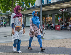 walk on by (tramsteer) Tags: tramsteer muslin ramadan women costa plymouth activity armadaway england europe