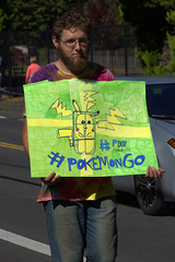 Pokemon Go (swong95765) Tags: pokemon guy man sign go parade advertise game