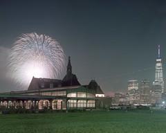 Liberty State Park (devb.) Tags: 4x5 largeformat chamonix045n2 150mm portra400 jerseycity nj fireworks july4 worldtradecenter