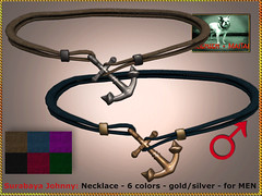 Bliensen - Surabaya Johnny - necklace for men (Plurabelle Laszlo of Bliensen + MaiTai) Tags: necklace choker anchor pirate sailor maritime nautic seafaring sl secondlife vintagejewelry jewelryformen bliensen