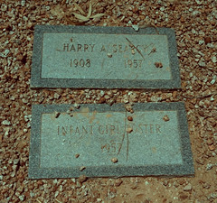 Big Six & the Baby Girl (Midnight Believer) Tags: tucsonarizona pimacountycemetery headstones tombstones gravestones death finalrestingplace americansouthwest murder homicide killing tragedy africanamerican