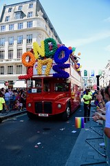 (Giramund) Tags: londonpride lgbt celebration colourful rainbow routemaster bus old red balloons loveislove equality