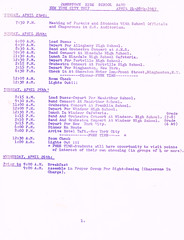Band Orchestra NYC trip itinerary p.3 (terry lorenc) Tags: jhs class 1967 jamestown high school new york