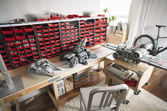 My building area and MOCs (drakmin) Tags: lego legophoto eurobricks starwars starcraft siegetank siege xwing incom t65 snowspeeder rebel moc legomoc jedi star wars wip project design engineering storage tayg emeco plywood canyon