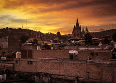 Sunset over San Miguel de Allende - Guanajuato, Mexico (nicklaborde) Tags: 500px sky city sunset travel religion church tower old architecture cityscape building evening town cathedral ancient outdoors lumix no person panasonic mexico guanajuato gothic san miguel de allende gx7 lumixlounge