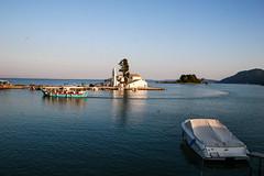 panagia vlacherna (philippbenji) Tags: church rocks boat pontikonisi island sea kerkyra corfu greece kanoni landscape seascape blue