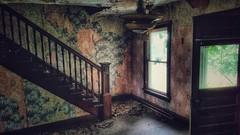 silent interlude... (BillsExplorations) Tags: abandoned abandonedillinois decay ruraldecay forgotten stairs solitide silent interlude quiet dark wallpaper abandonedhouse abandonedfarm farm illinois oncewashome