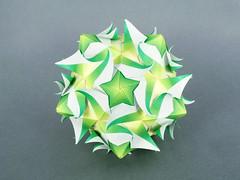 Tanabata (masha_losk) Tags: kusudama кусудама origamiwork origamiart foliage origami paper paperfolding modularorigami unitorigami модульноеоригами оригами бумага folded symmetry design handmade art