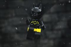 Batgirl (Jezbags) Tags: lego legos toys toy minifigure minifigures macro macrophotography macrodreams macrolego canon60d canon 60d 100mm closeup upclose batgirl batman wall dc dclego legodc action fly swoop
