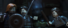 They have a cave troll... Now remember, swish and flick (tomtommilton) Tags: lego toy toyphotography lordoftherings harrypotter aragorn boromir hermione fantasy magic troll mashup crossover movie cinematic